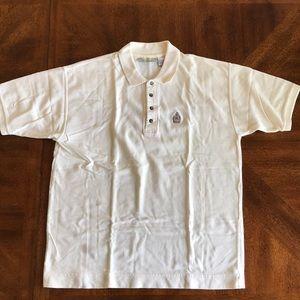 Bugle Boy Co. cream short sleeve polo shirt